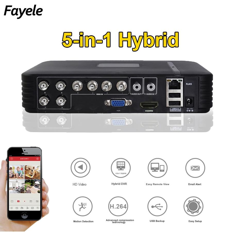 8CH CCTV DVR AHD 1080P CVI TVI Analog IP 5in1 Hybrid DVR Surveillance Video Recorder P2P