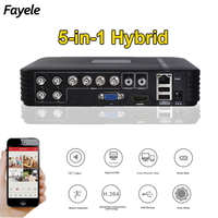 8CH CCTV DVR AHD 1080P CVI TVI Analog IP 5in1 Hybrid DVR Surveillance Video Recorder P2P Mobile View ONVIF HDMI 1CH Audio IN OUT