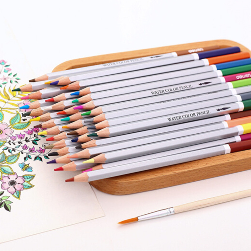Water Color Pencil Set 24/36/48/72 Painting Colors Watercolor Pencil For Student Drawing iron Paper Box Art School Supplies cute lovely color pencil drawing tutorial art book