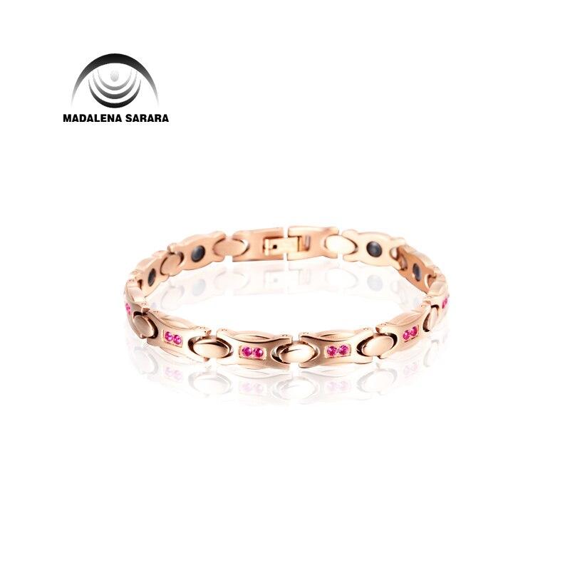 MADALENA SARARA Premium Titanium Steel Energy Bracelet