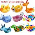 Engraçado Animais Bonitos Forma Assento Flutuador bóia Bebê Anel de Natação Do Bebê Piscina Inflável Para Piscina Flutua Para A Natação Do Bebê Acessórios