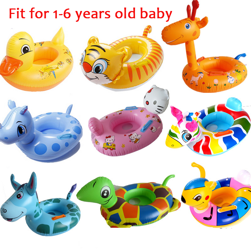 Funny Cute Animals Shape Inflatable Pool Float Baby