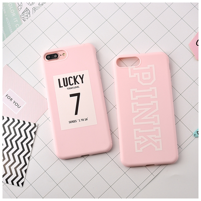 Case iPhone stylowy lucky print dwa kolory  6/6S 6/6S plus 7/7plus