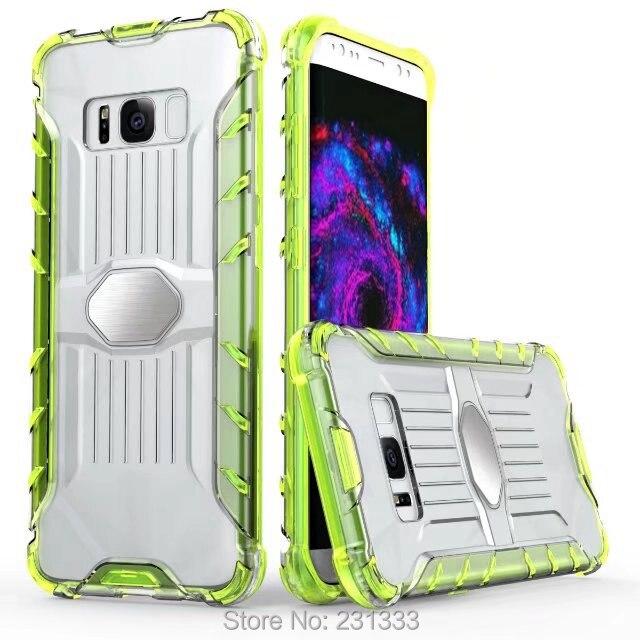 Для iPhone 7 Plus I7 7 Plus 6 6 S магнитная всасывания автомобильное крепление Жесткий ПК ТПУ чехол Armor Hybrid ясно, двойной Цвет Shell кожного покрова 50 шт.