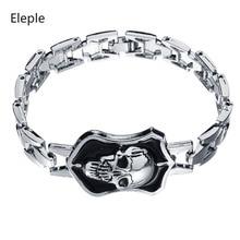 Eleple Unique Popular Skeleton Bracelets for Mens Neo Gothic Skull Bracelet Anniversary Nightclub Punk Retro Jewelry S-B82
