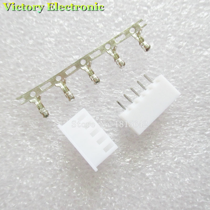 20PCS/LOT XH2.54 Connector Kits 2.54mm Pin Header + 5P Terminal + Housing XH2.54-5P Wholesale
