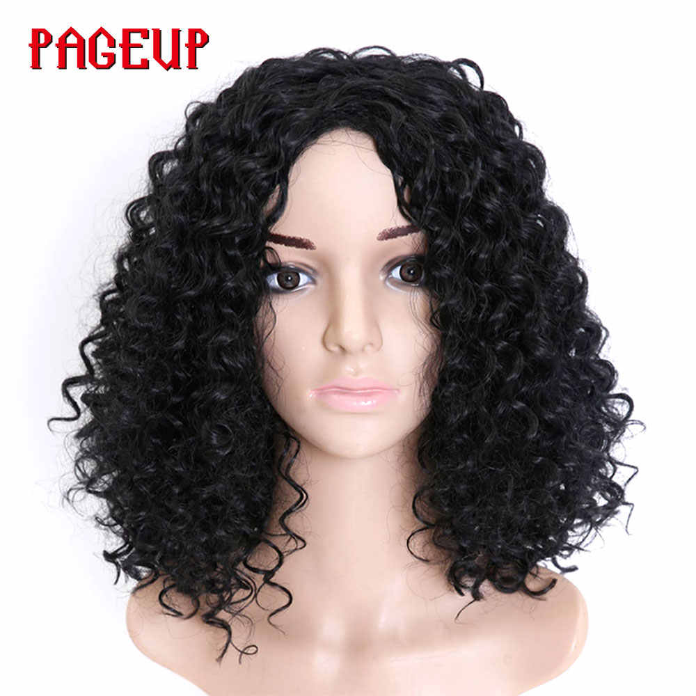 Pageup Hair Afro Frizzy Curly Wig Synthetic