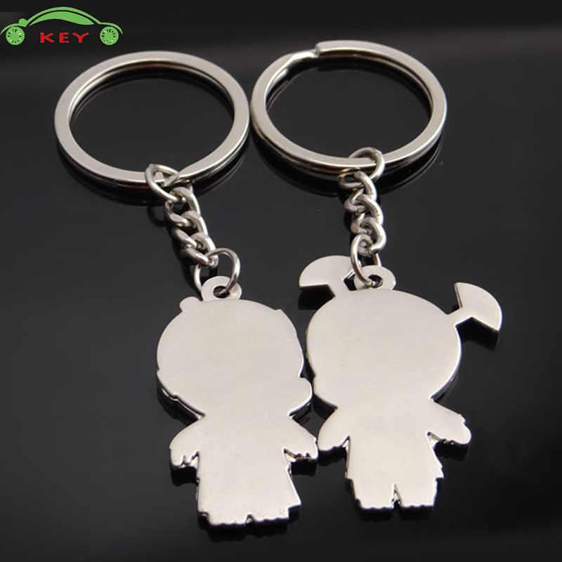 Couple Guys Xe Keychain Auto Em Xe Máy Túi Chìa Khóa Vòng Mặt Dây Chuyền cho Mazda Lada Ford BMW Fiat Audi Toyota Dodge Subaru Keying