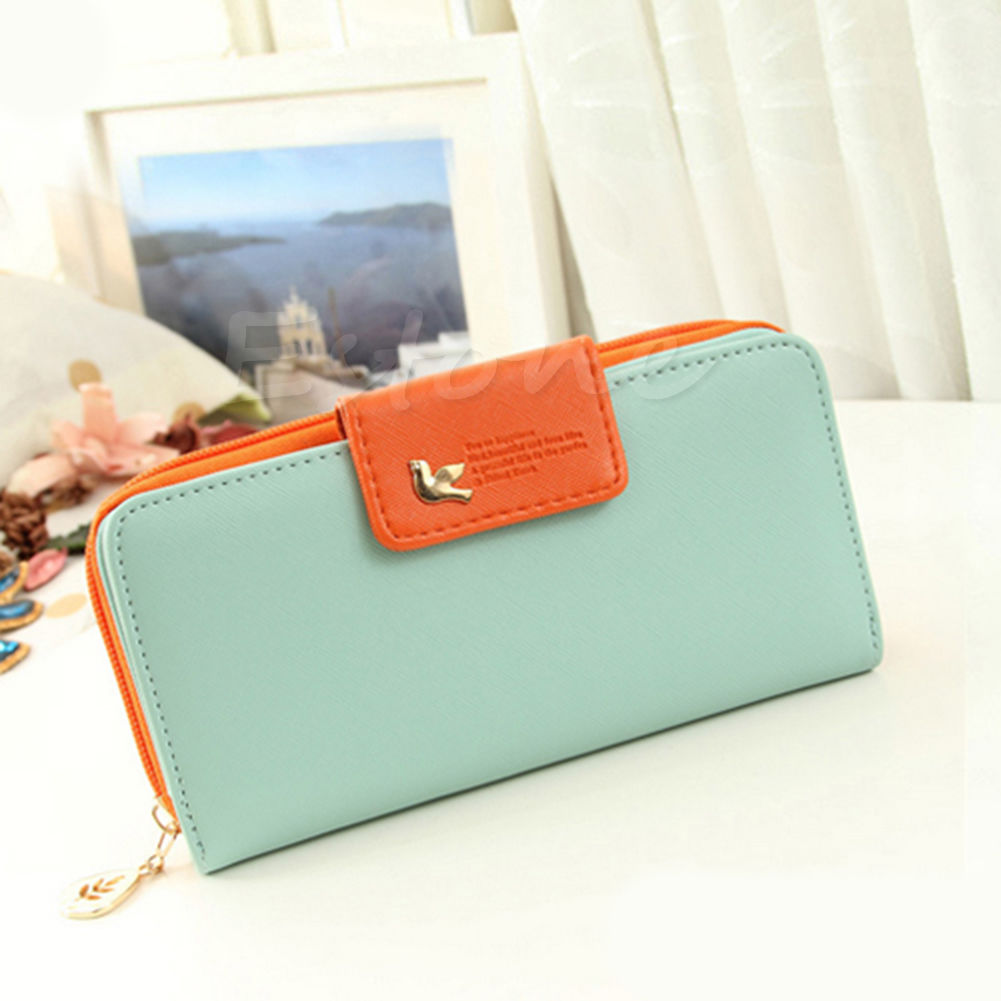 2017 Hot New Women Girls Functional PU Leather Buckle Long Purse Clutch Cute Button Wallet Bag Card Holder 6 Colors Fashion Zip yuanyu free shipping 2017 hot new real crocodile skin female bag women purse fashion women wallet women clutches women purse