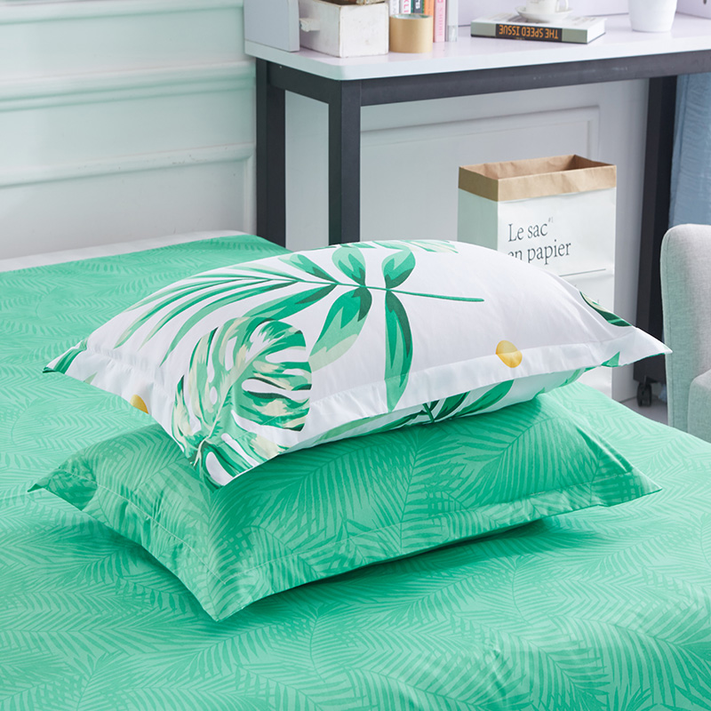 1PC Pillow Case 70*70 50*70 50*75  Pillowcase Decorative Pillow Cover Bedding For Hotel Wedding Green