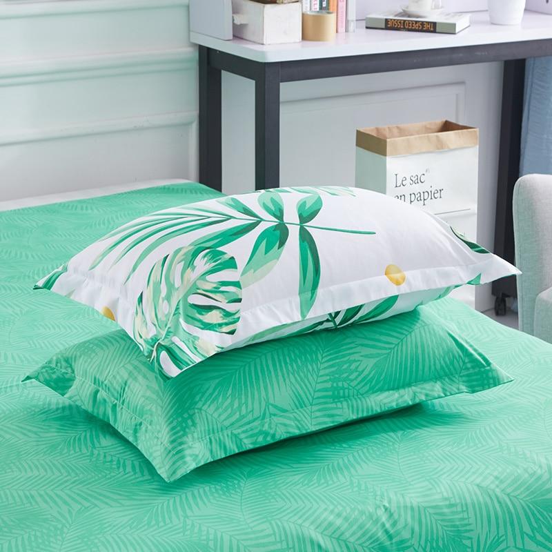 1PC Pillow Case 70*70 50*70 50*75  Pillowcase Decorative Pillow Cover Bedding For Hotel Wedding Green