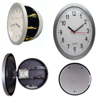 Wall Clock Diversion Safe Secret Stash Money Cash Jewelry Toy Storage Security Lock Box Tin Container