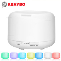 500ML Aromatherapy Essential Oil Diffuser Ultrasonic Air Humidifier With 4 Timer Settings 7 LED Color Changing