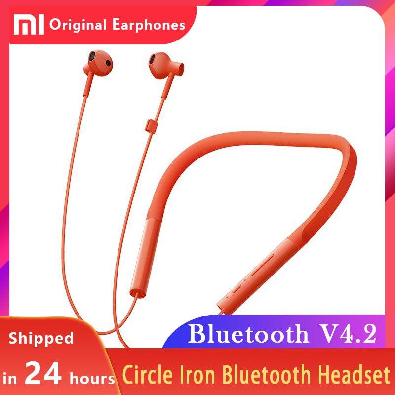 Xiaomi Collar Bluetooth Headsets Half In ear Earplugs HD Handsfree Mic Balanced Sound V4.2 Wireless Sport Earphone Youth Version