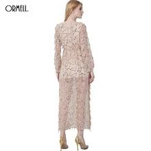 ORMELL Sexy Gold Sequin Glitter Dress Women Deep V Sundress 2016 Autumn Winter Ankle Length Dress Party Club Vestidos