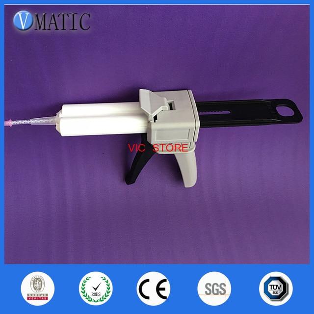 Free Shipping 2:1 Ratio Impression Glue Dispensing Caulking Cartridge Gun AB 50ml/cc