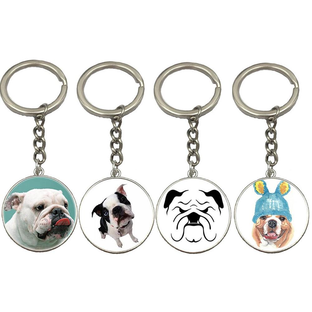 Cute Bulldog Cute Dog Animal Fashion Keychain 2017 Newest Key Chain Gifts