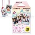 Genuino fuji fujifilm instax mini película instantánea estrella brillante papel fotográfico 10 unids para Mini 8 7 s 7 50 s 50i 90 25 dw Compartir SP-1 cámaras