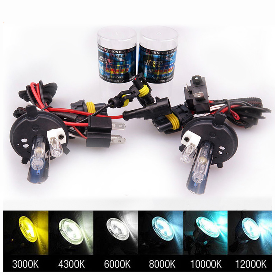 HOT!12V 35W H4 High Low for Halogen and Xenon Lamp 4300k 5000K 6000k 12000k Car Light Bulb Replacement,Xenon h4 For TOYOTA Class