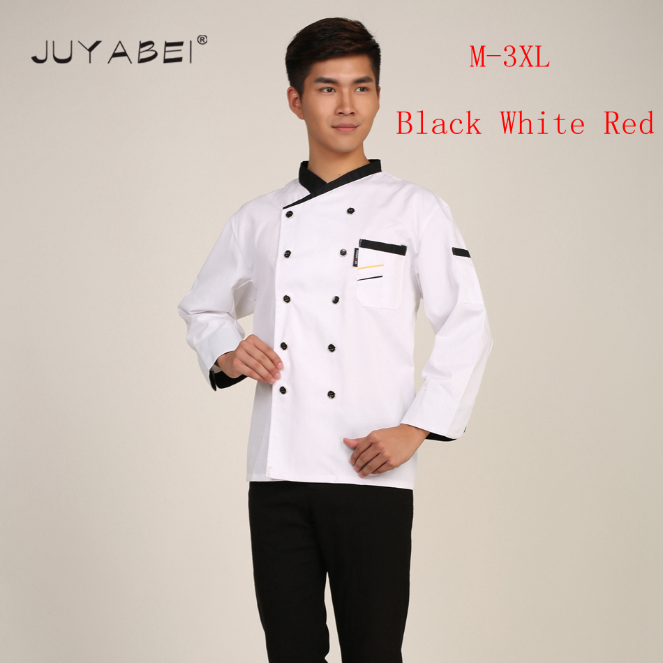 High Quality Unisex Chef Jacket Restaurant Kitchen Chef Cooking Baking Workwear Clothes Men s Patchwork Long
