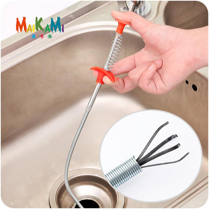 bendable brush sewer pipeline dredge sink hair brush cleaner kitchen accessories toilet brush cleaning tools long
