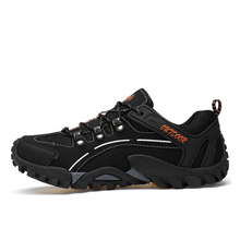 Top Quality Men Hiking shoes Breathable trekking climbing shoes Men outdoor sport walking shoes sneakers Zapatos Hombre size 45 breathable running shoes for men sneaksers genuine leather outdoor walking shoes male sport sneakers zapatos hombre plus size 45