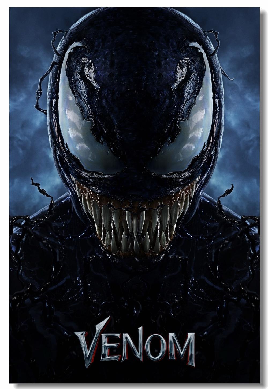 Custom Canvas Wall Murals Tom Hardy Venom Poster Marvel Venom Wall