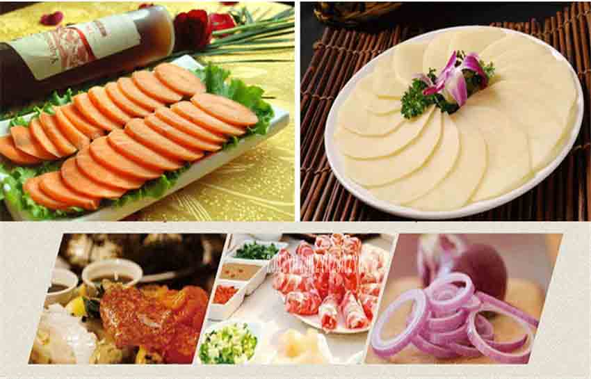 12-inch slicer electric meat slicer mutton roll frozen beef cutter lamb Vegetable cutting stainless steel mincer 0-12mm  ES-12 9