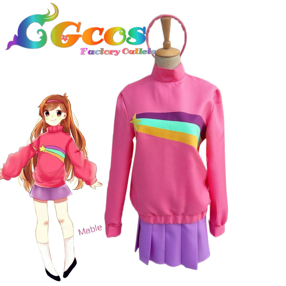 cgcos free shipping cosplay costume gravity falls mabel new in stock