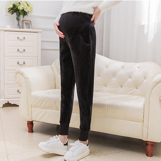 Plus Size Fashion Maternity Clothing Long Trousers for Pregnant Women Belly Pants Maternity Pants New Spring Trousers E637