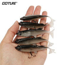 Goture 5pcs/lot Soft Lure 8.5cm 16g Artificial Bait Silicone Wobblers Fishing Lures Sea Bass Carp Fishing Lead Fish Jig