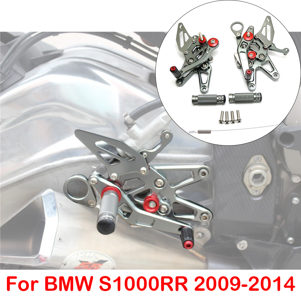 KEMiMOTO S1000RR CNC Adjustable Rearset Foot Rest Foot pegs For BMW S1000 RR s 1000 rr