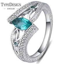 559c7af7a7a8 3 colores señoras anillo de dedo de Plata de Ley 925 piedra aguamarina  anillo de compromiso para las mujeres piedras azul rojo v.