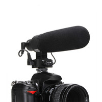 V MIC D2 супер cardiod Регулируемая чувствительность направленного сзади Электрический конденсаторный микрофон для Nikon Canon Sony Pentax