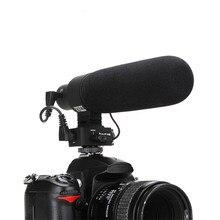 V-D2 Super Cardiod Direcional Ajustável Sensibilidade Mic Microfone Condensador Elétrico de Volta para Nikon Canon Sony Pentax