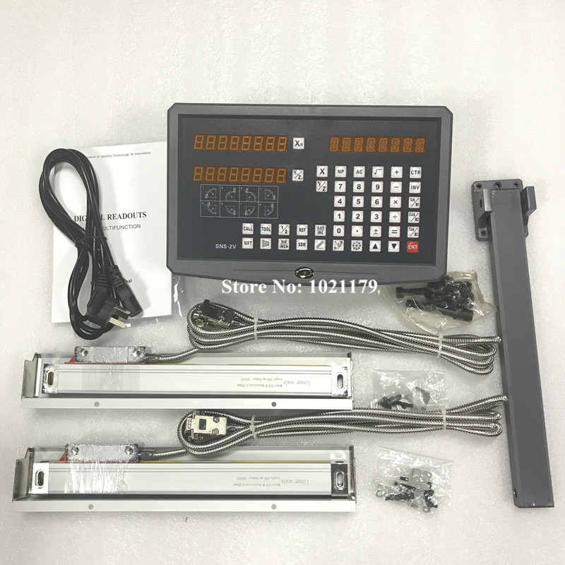 Free shipping high precision instruments lathe mill 2 axis DRO digital readout with 2 pcs linear