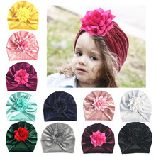 Newborn baby hat Flower Bowknot baby cap Infant Girls autumn hats Hospital Cap Soft Cotton Toddler Knit newborn baby photo props цена 2017
