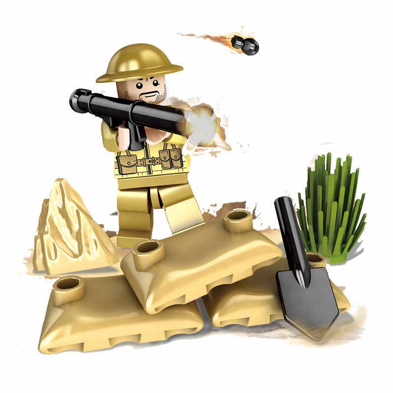 Kitoz WW2 الحرب العالمية II معركة Imphal المملكة المتحدة البريطانية جنود الجيش العسكرية بناء الالعاب العملاقة الشكل متوافق مع ليغو