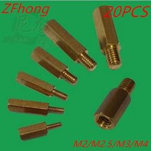 20pcs hex brass standoff spacer male to female M2.5 m3 m4 Brass long screw