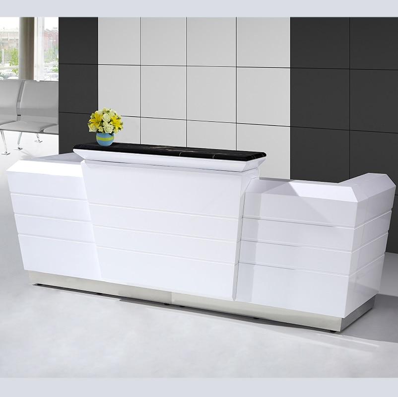 Commercial Modern  Office Floor Wood Reception Executive Computer Desk Design Furniture  For Sale #2600