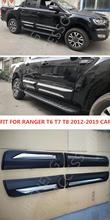 Exterior body cladding kits ONLY FIT FOR 4DOOR STYLING MOULDING DOOR COVER RANGER T6 T7 T8 4 COVERS 2012-2019