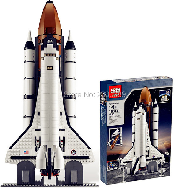 ФОТО 2017 New 16014 1230Pcs Space Shuttle Expedition Model Building Kits Blocks Bricks Toys For Children Gift Compatible With 10231