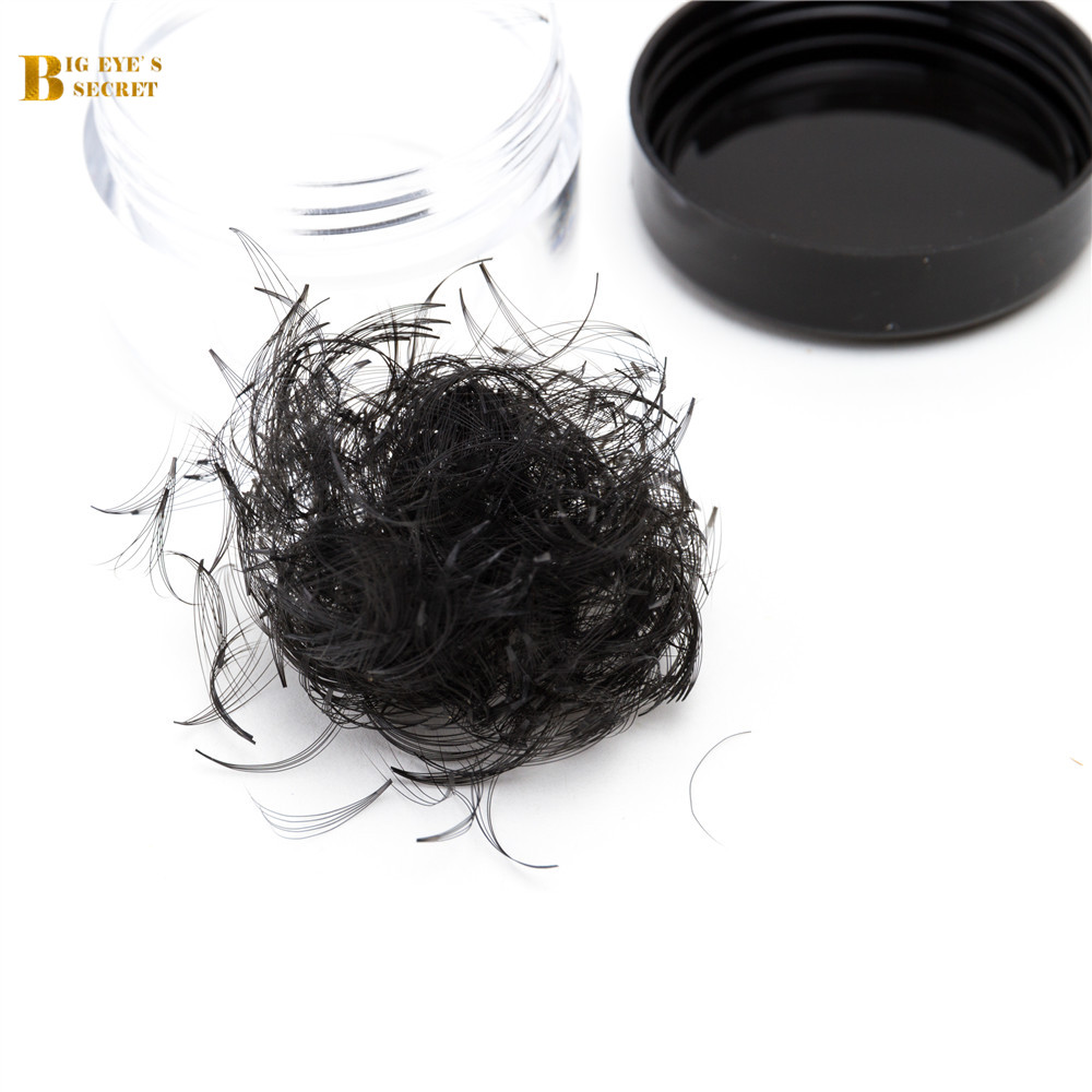 BES 1 Jar 500/1000Fans Russian Volume Lash Fans Premade Fans Volume Lash Individual Eyelash Extension Heat Bonded Pre Made Fan