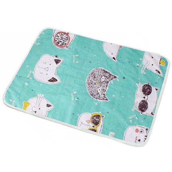 Пеленальный Коврик для младенцев, портативный складной моющийся Водонепроницаемый Матрас, коврик для путешествий, коврики, подушка, многоразовый матрас - Цвет: Бежевый
