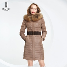 BASIC-EDITIONS 2016 Winter White Duck Down Jacket Women's Hooded Long Down Jackets Warm Winter Coat Parkas ny018