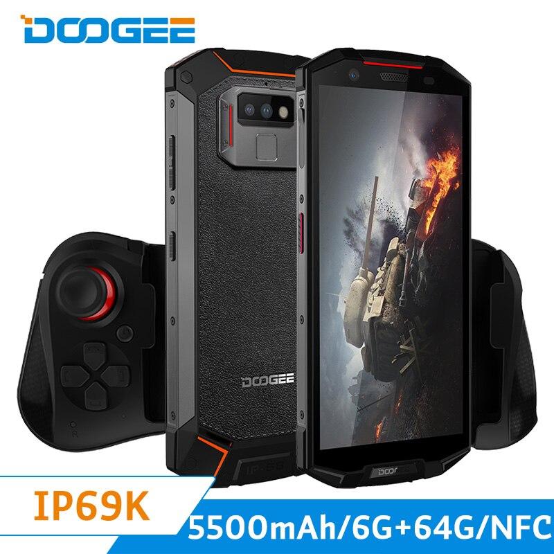 Téléphone portable d'origine Doogee S70 4G LTE IP68 étanche aux chocs Android 8.1 Oreo Helio P23 OCta Core 6 + 64G Smartphone 5500 mAh