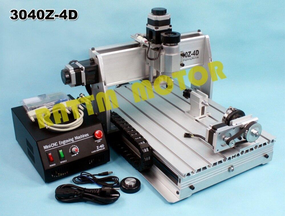 4 axes 3040 CNC routeur graveur/gravure vis à billes de forage