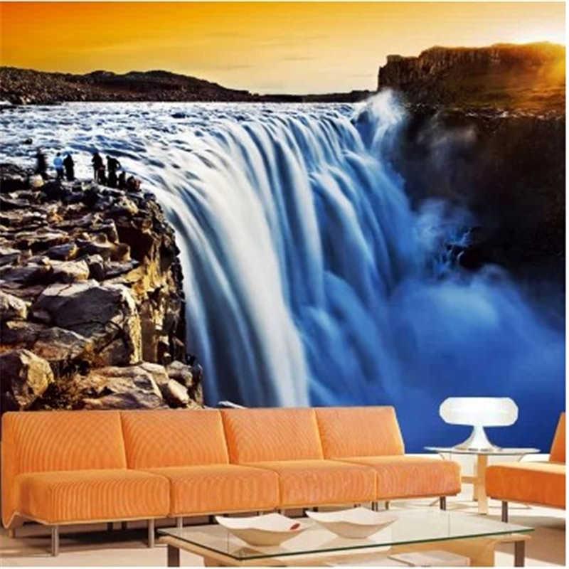 Beibehang пользовательские 3D стерео обои офис диван ТВ спальня Фреска Золотой водопад декоративный фон d обои фото фрески