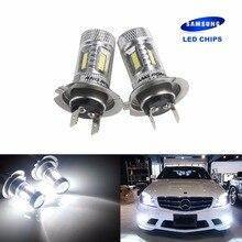 цена на 2x H7 SAMSUNG High Power 15W LED HeadLight Bulb Fog Lamp Daytime Light DRL White