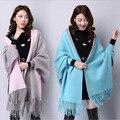 Mujeres Cardigans capa 16 Colores 2016 Otoño Abrigo de Invierno de Alta Calidad de Lana de Punto Suéter Top Moda calentamiento Señora Cloth